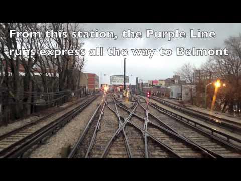 Chicago CTA Purple Line Time lapse December 2012