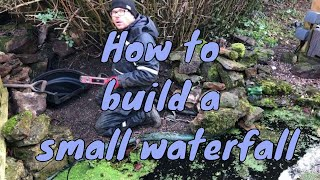 Gambar cover How to build a small waterfall - Garden Waterfall Kit UK