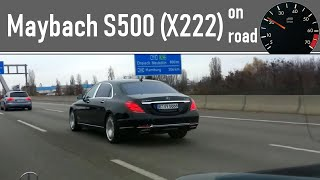 Mercedes Maybach S500  on road