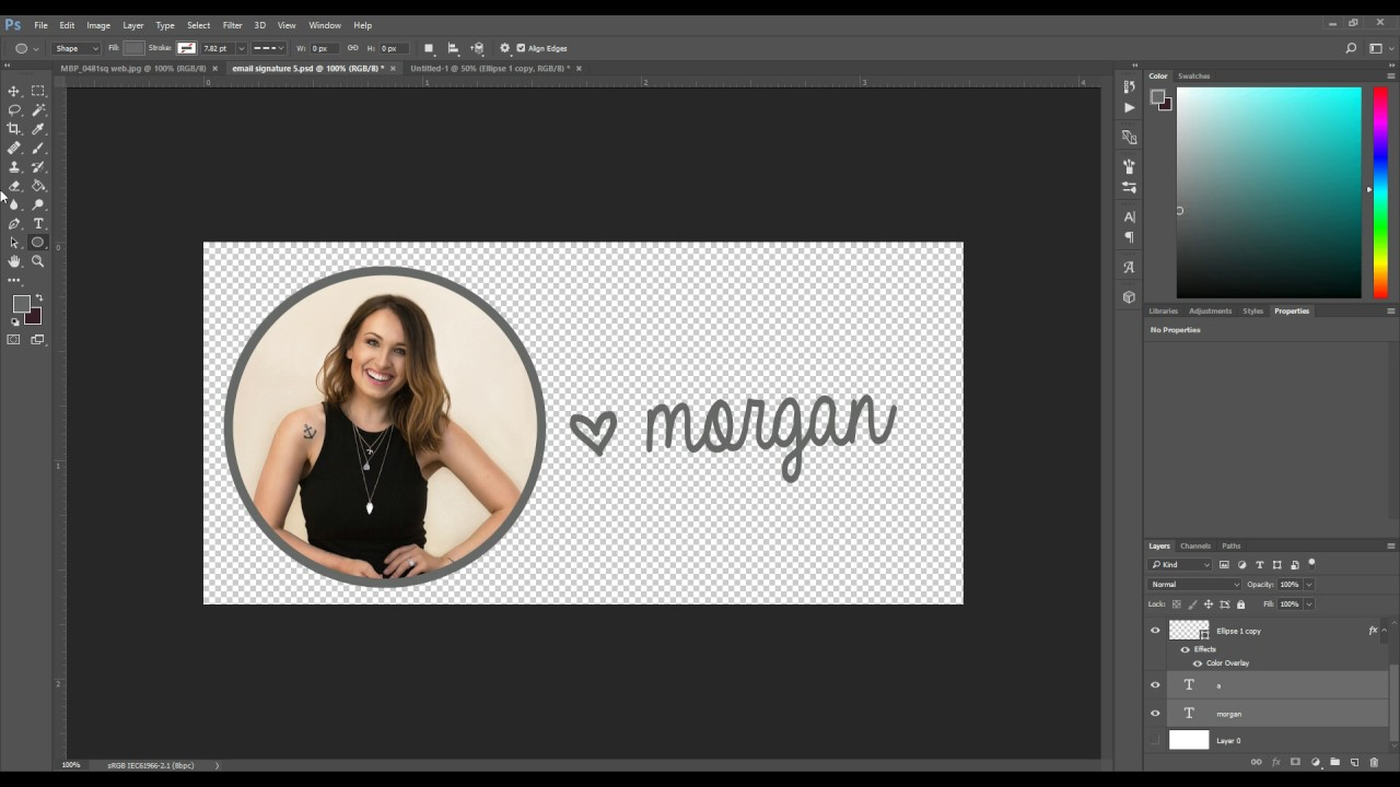 How to Create an Email Signature Image in Photoshop - YouTube