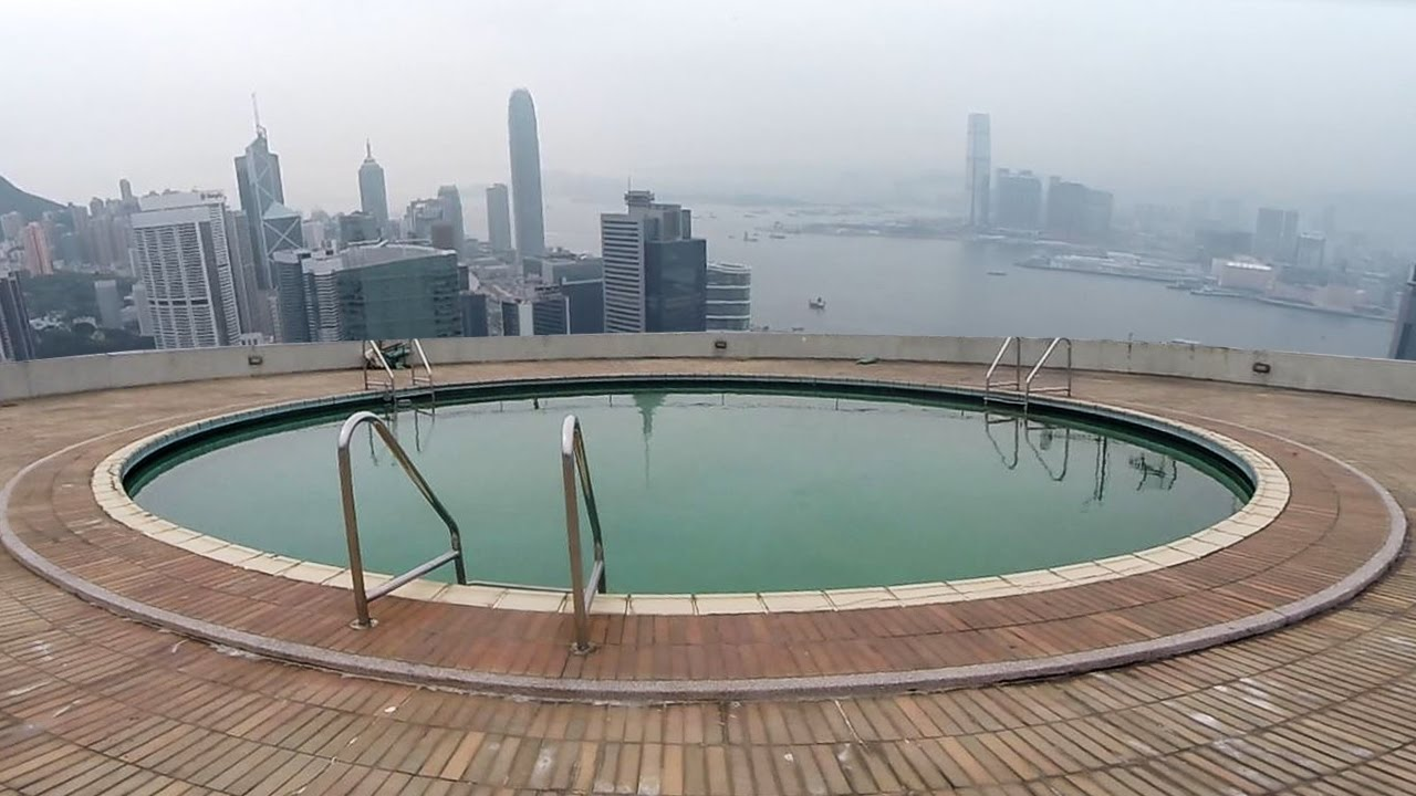 I Found An Abandoned Rooftop Pool Youtube