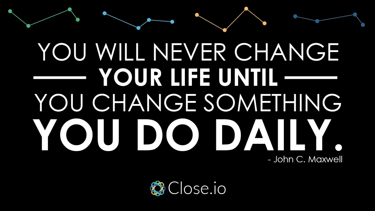 Quote About Change Sales Motivation Quote You Will Never Change Your Life Until You