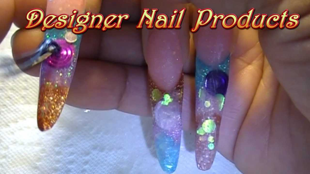 Acrylic Colored circles Nail Art Design How To / Step by Step ...