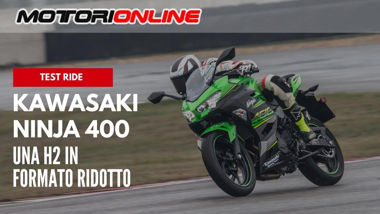 Kawasaki Ninja 400 2018 Test Ride Pista Strada Youtube