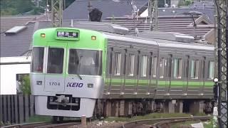 京王井の頭線 1000系1704F編成リニューアル車 吉祥寺駅到着・発車