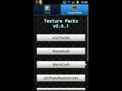 Minecraft:PE Skin ve Texture Pack yükleme