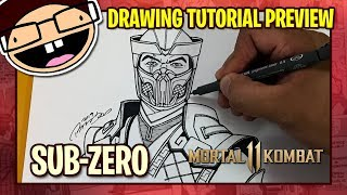 [PREVIEW] How to Draw SUB-ZERO (Mortal Kombat 11) | Tutorial Time Lapse
