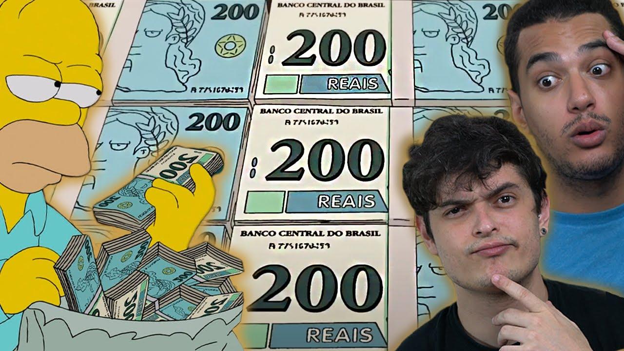 Os Simpsons PREVIRAM A NOTA DE 200 REAIS em 2014??
