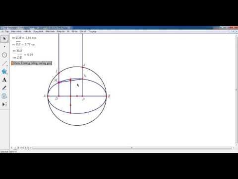 Hướng dẫn vẽ một cung Elip nét liền + nét đứt bất kì bằng GSP 5.0  Lưu Công Hoàn