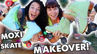 EXTREME SKATE MAKEOVER with Pigeon & Indy!