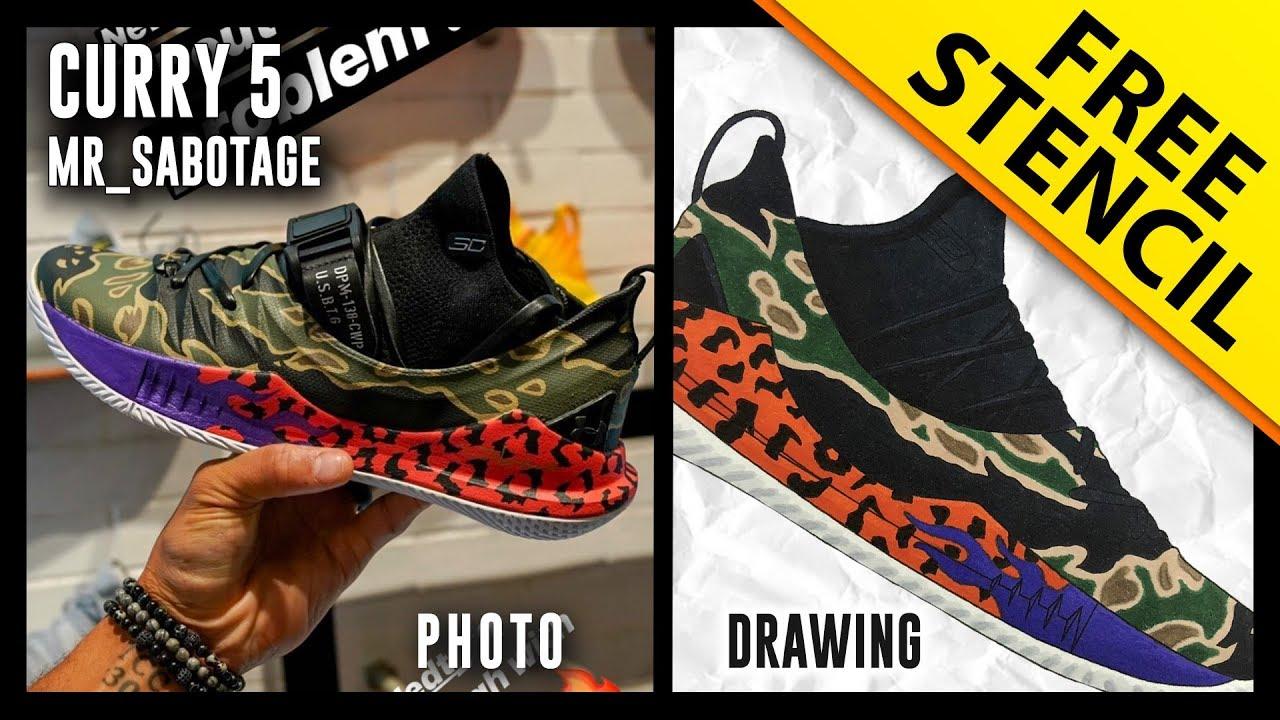 Curry 5 Custom: Mr_Sabotage - Sneaker
