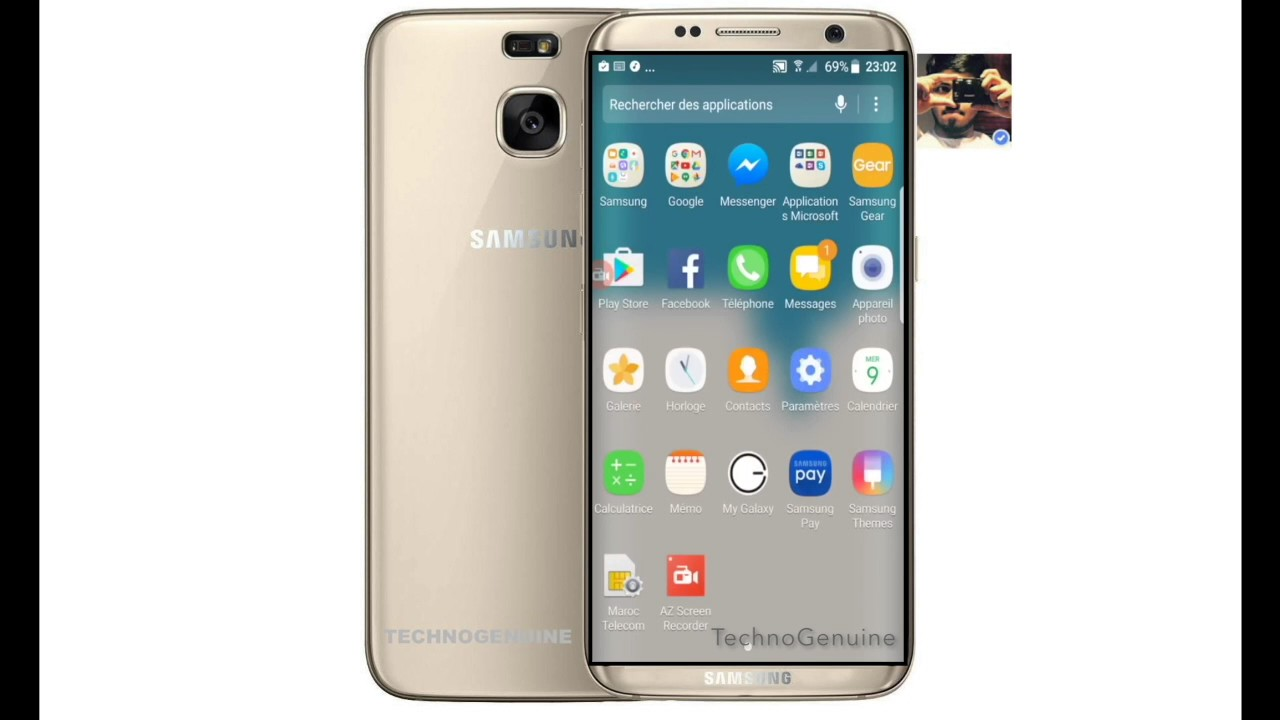 how samsung galaxy s8 looks on android nougat 7 1 1 youtube. Black Bedroom Furniture Sets. Home Design Ideas