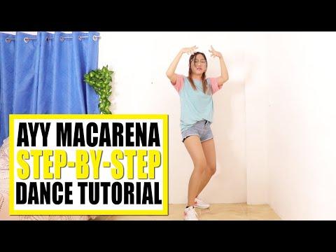 AYY MACARENA Dance Tutorial (Step-by-step)   Rosa Leonero thumbnail