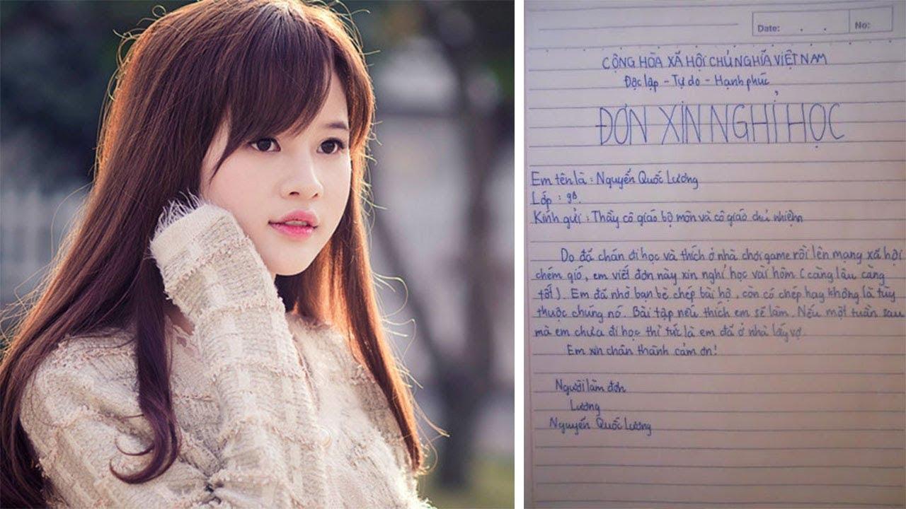 5 Đơn Xin Nghỉ Học Bá Đạo Nhất Của Học Sinh Việt Nam