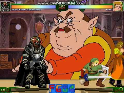 Mugen: Dank Lord Ganondorf (Me) vs Lunk