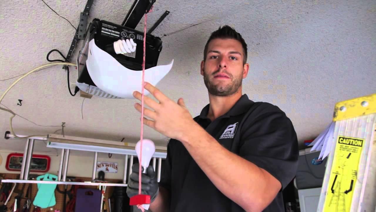 What Type Of Bulb Should You Use In Your Garage Door Opener Youtube
