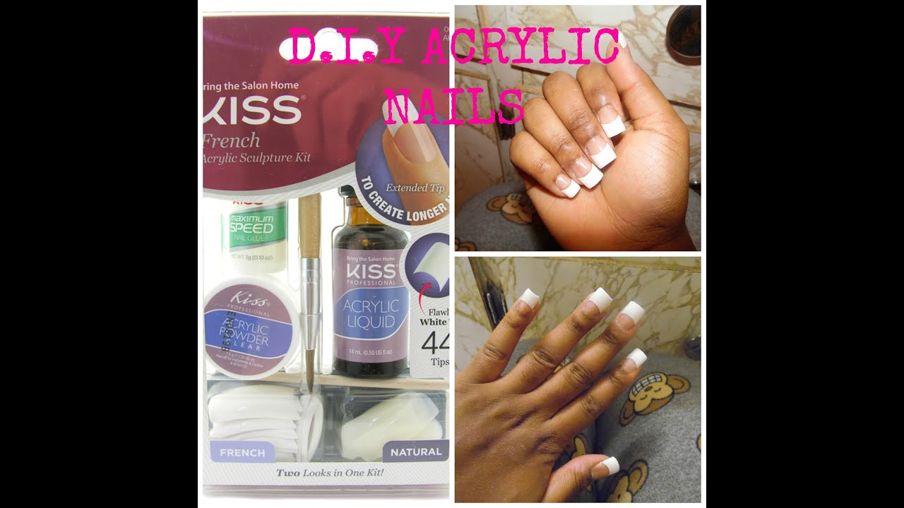 D.I.Y SALLY HANSEN ACRYLIC FULL SET - YouTube