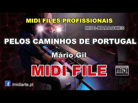 ♬ Midi file  - PELOS CAMINHOS DE PORTUGAL - Mário Gil