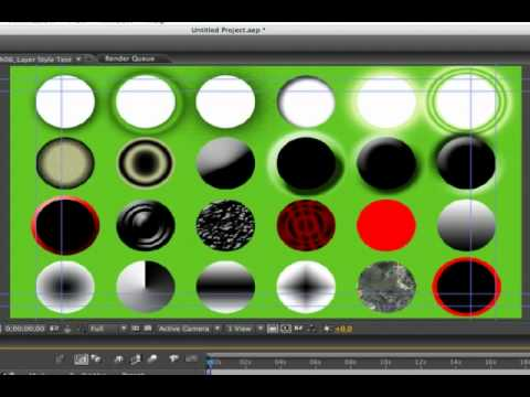 Using Layer Styles With After Effects