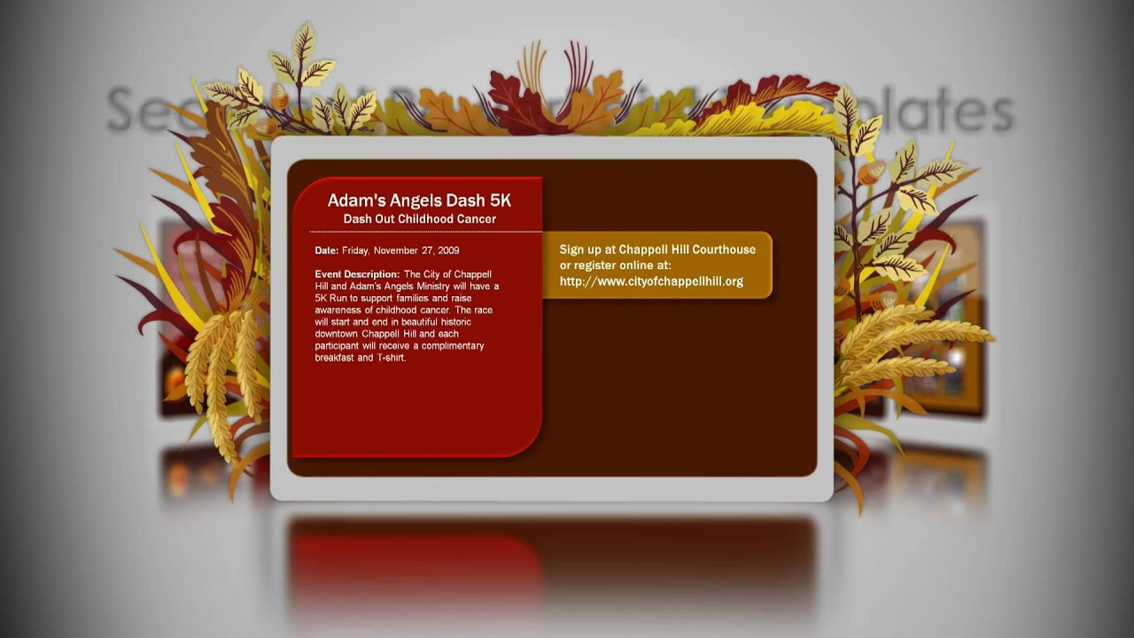 Digital Signage Powerpoint Template Thanksgiving