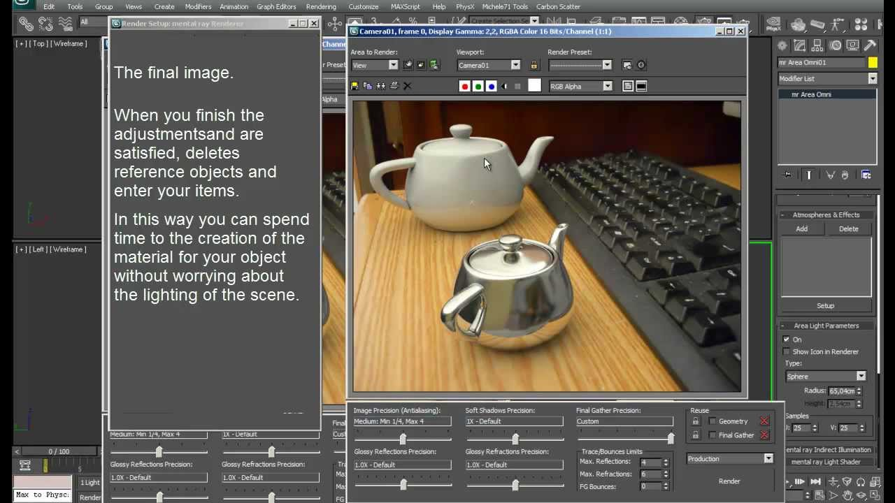 Tutorial 3dsmax camera match and matte shadow for Tutorial 3d max