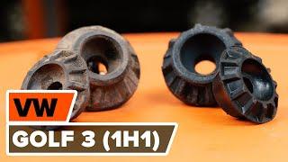 Montera Fjäderbenslagring bak och fram VW GOLF III (1H1): gratis video