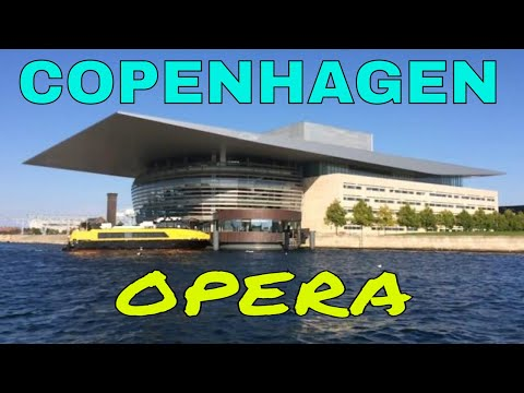 Copenhagen tour by boat: The Royal Danish Opera House