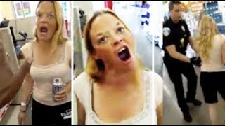 Drugged Out Lady Gets Arrested After Harassing Store Employee