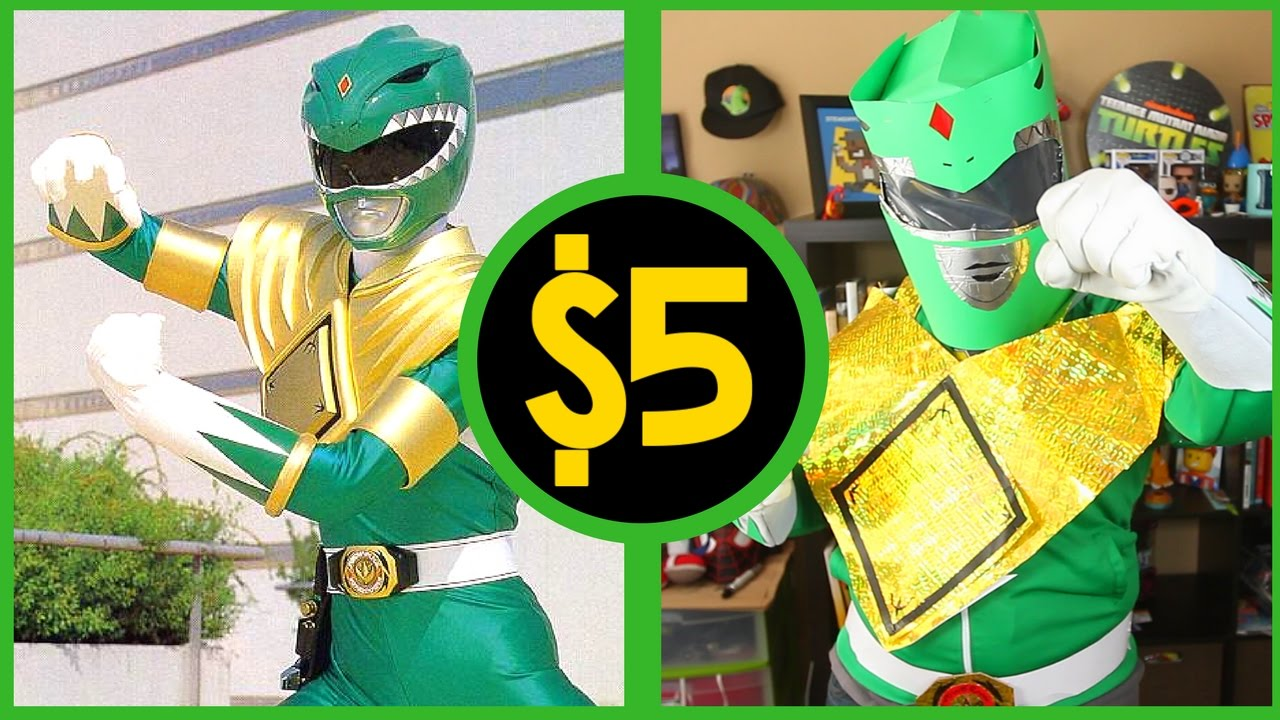 a82eb3fb42c Green Ranger Costume (Power Rangers) ⚡  5 Cosplay Challenge - YouTube