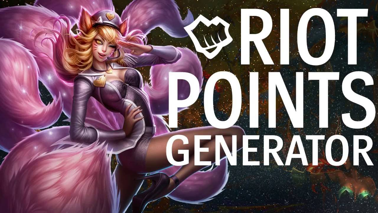 free riot points with the riot points generator lolriotguide - 1280×720