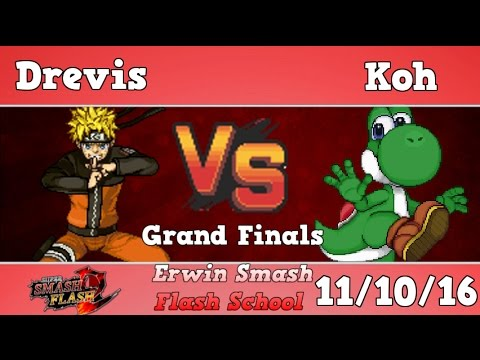 ESFS - Drevis (Naruto) Vs. Koh (Yoshi, Kirby) Grand Finals, Smash Flash 2