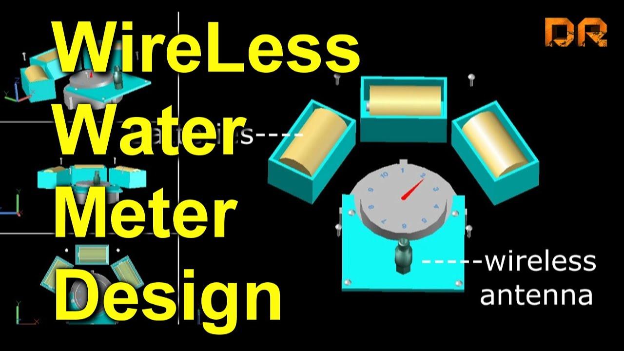 3d cad residential water meter model - 3d Water Meter Design