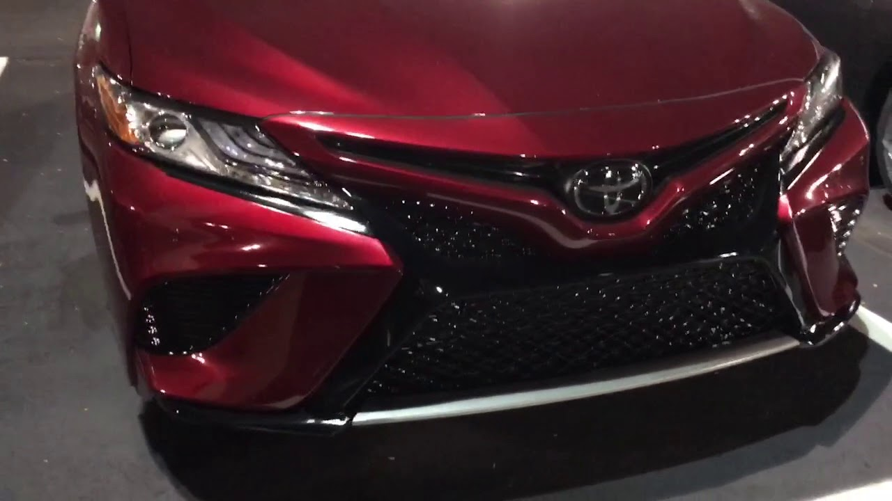 2018 Toyota Camry Xse In Ruby Pearl Beautiful Color Youtube