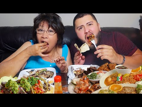 Massive Mexican Food Mukbang With My Grandma