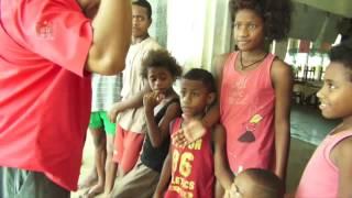 Fijian Prime Minister, Hon. Voreqe Bainimarama tours flooded areas, Navua