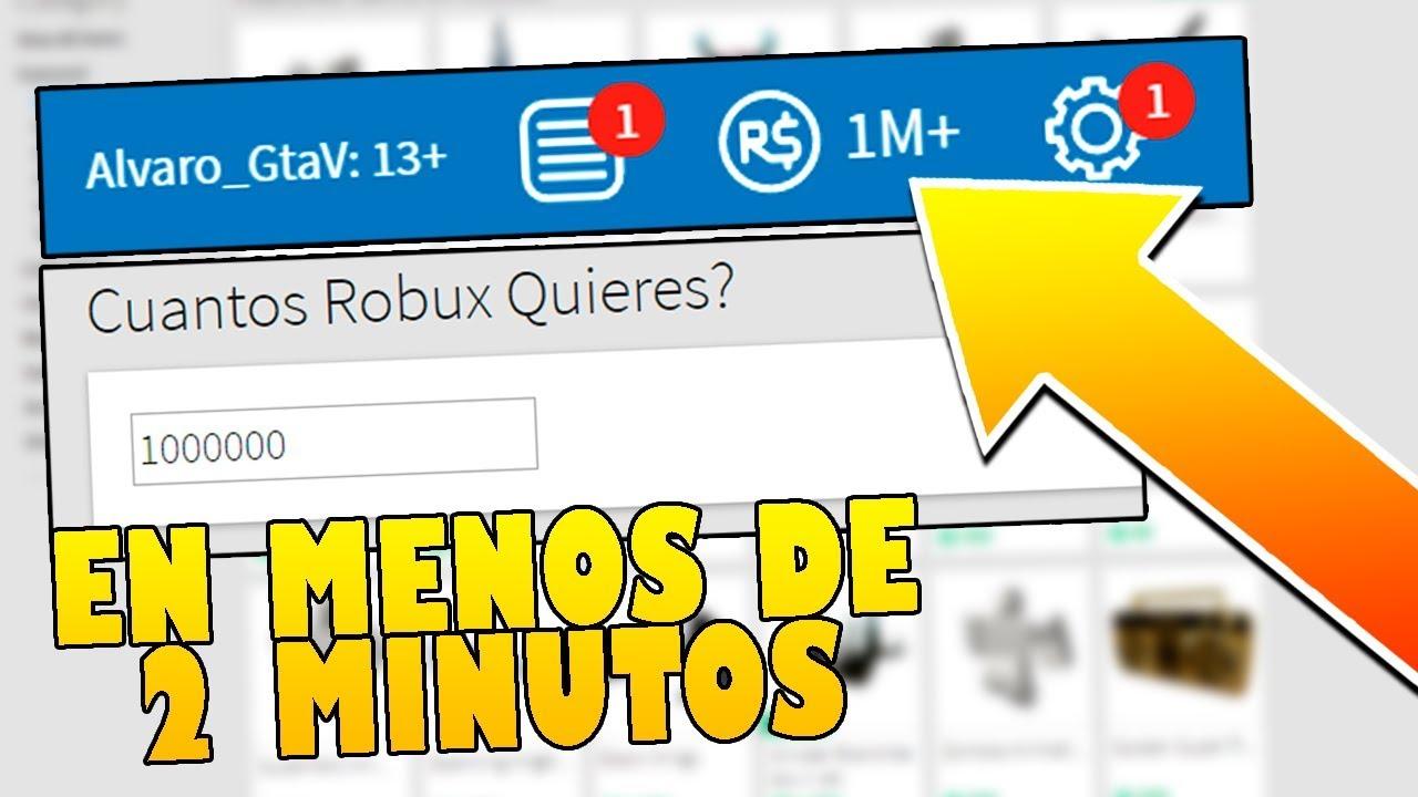 Consigue 1 Millon De Robux Gratis En 2 Minutos Roblox Cazando Mitos Youtube