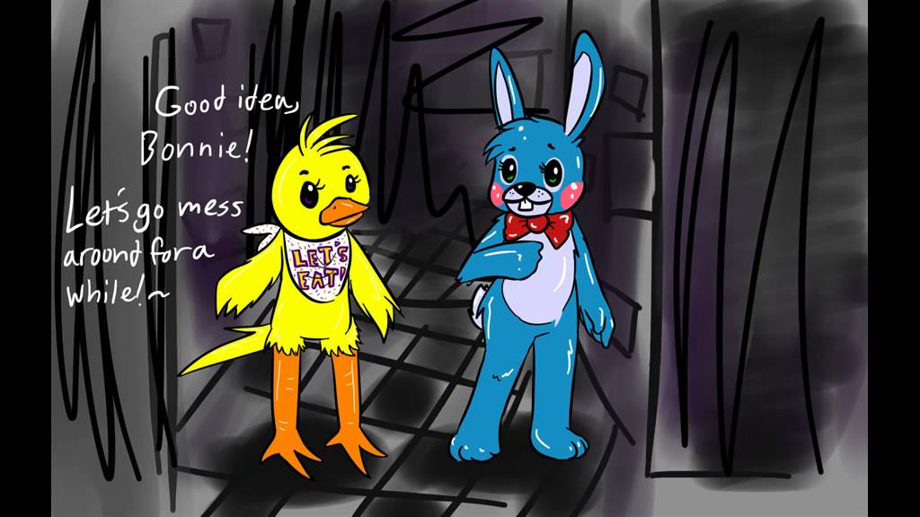 Old Fnaf Chica And Bonnie 2 0 Voices Drama Theatre 1