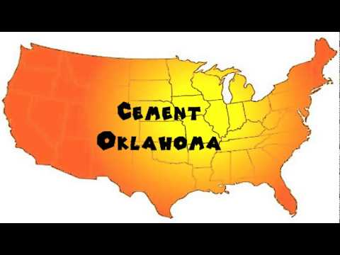 Cement Oklahoma Map.How To Say Or Pronounce Usa Cities Cement Oklahoma Youtube