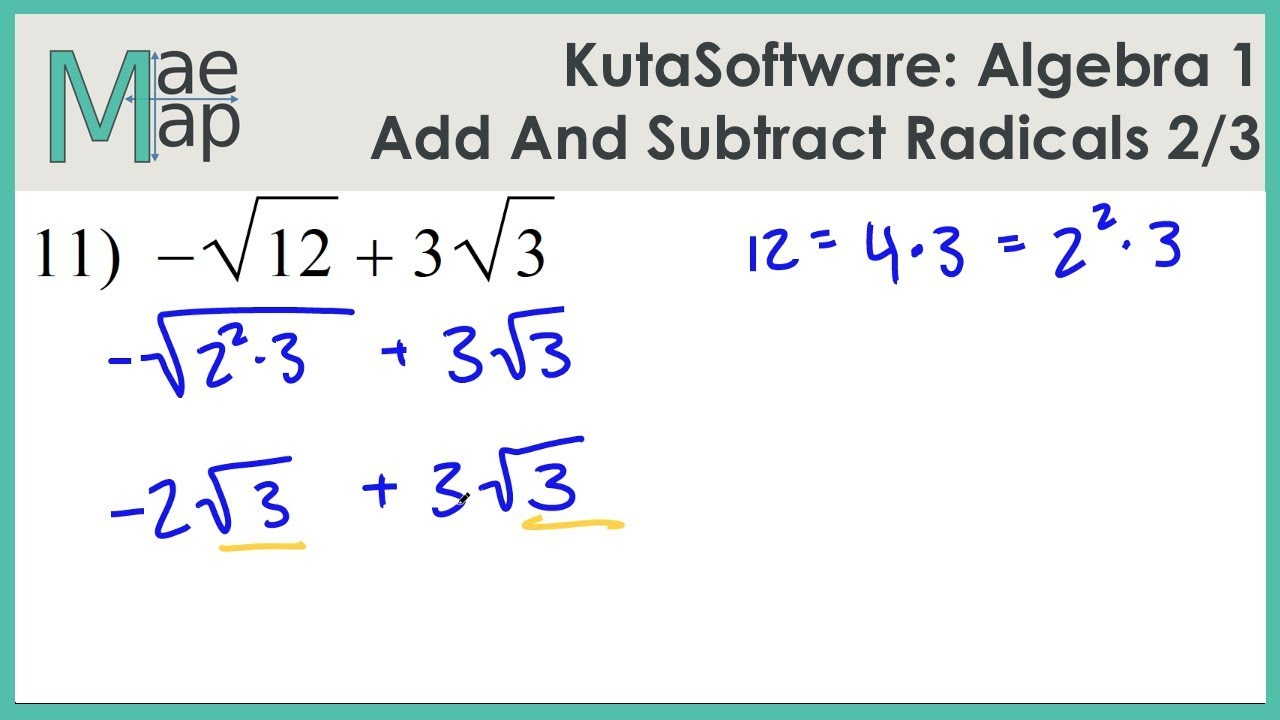 in addition Exponents and Radicals Worksheets   Exponents   Radicals Worksheets in addition  also Simplifying Radical Expressions With Variables Kindergarten Adding in addition Kuta  Algebra 1  Adding And Subtracting Radicals Part 2 additionally Free Printable Math Worksheetsddingnd Subtracting Decimals Subtract furthermore  in addition Adding And Subtracting Radical Expressions Calculator Math together with 12 Best Radical Expressions images   Teaching math  Math notebooks moreover Additions Adding And Subtracting Square Roots With Variables as well Cool math Pre Alge Help Lessons  Radicals   Adding and further  also  as well Homework Help Simplifying Radicals ‒ Simplifying radical expressions together with 12 Best Radical Expressions images   Teaching math  Math notebooks in addition . on adding and subtracting radicals worksheet