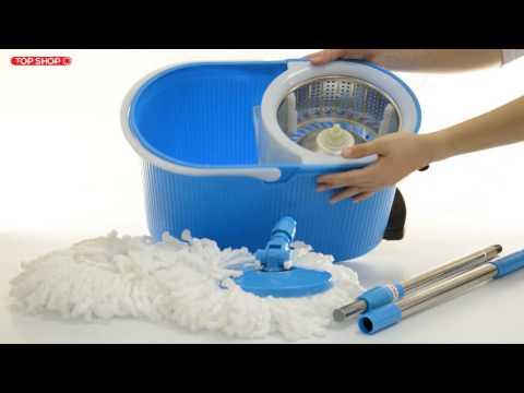 Комплект для уборки полов швабра, ведро с отжимом QYMOP 02 Spin Mop