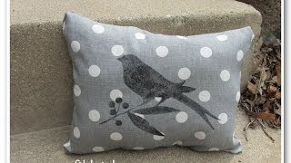 Mother's Day No Sew Designer Pillow Craft Tutorial Diy