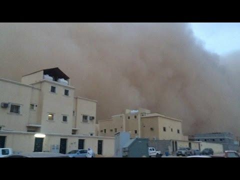 عاصفة حفر الباطن الترابية