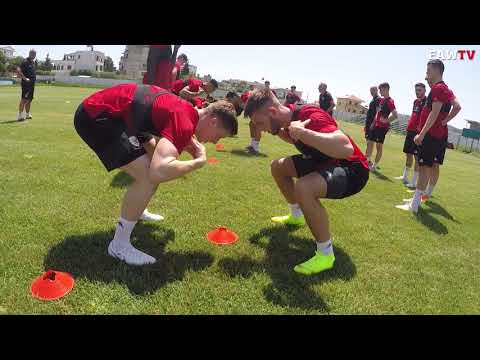 Wales U21 training in Albania