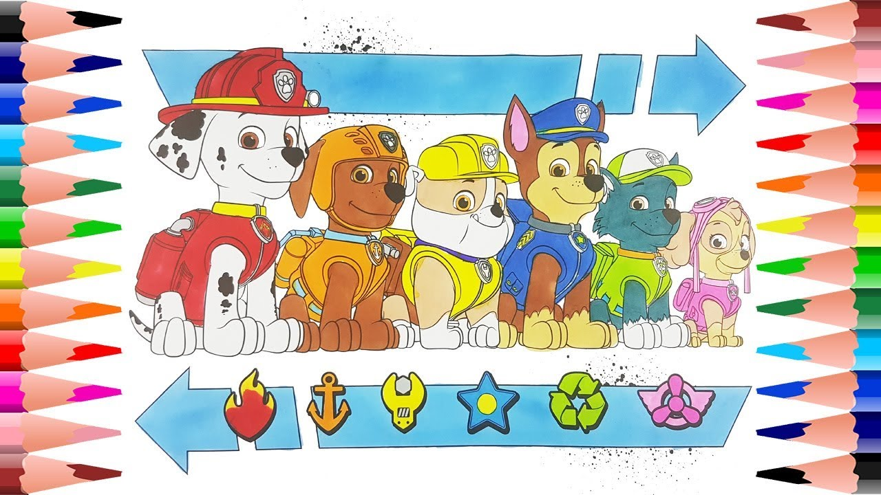 Coloring Paw Patrol Coloring Book For Kids Painting