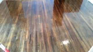 How to put polyurethane on a hardwood floor part 2