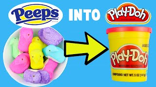 How to Make Edible Play Dough! Turn Peeps Candy into Homemade Dough Slime Easy DIY Tutorial!