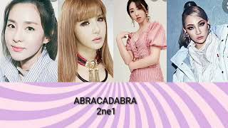 2ne1 (coded color abracadabra Brown eyed girls