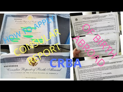 HOW TO APPLY CRBA |CONSULAR REPORT OF  BIRTH ABROAD|NATLYN VLOG❤