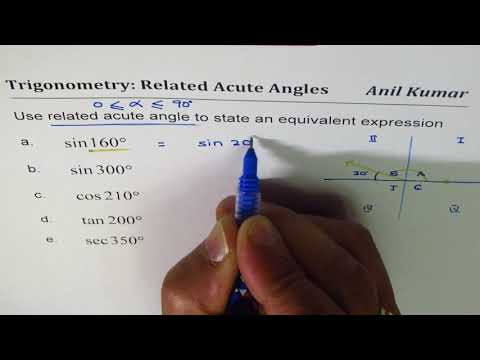 Equivalent Trigonometric Expression with Related Acute Angle