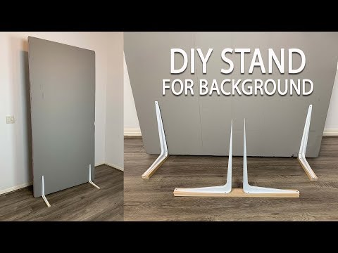 DIY stand holders for V-Flat/background board